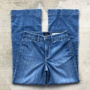 NYDJ High Waisted Wide Leg Trouser Jeans Size 28